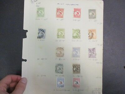 Pre decimal Stamps: Kangaroos Great  Selection on page!! (-)