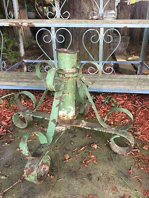 Antique, cast/wrought iron tree stand, flag stand. Gorgeous scroll work!