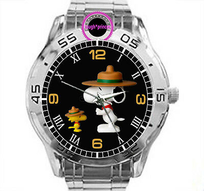 Beagle Snoopy Cartoon Scout Chrome Mens Watch Wristwatch Men Watches