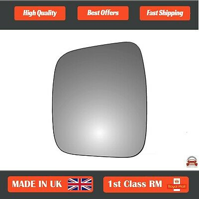 Left Passenger side Convex Wing door mirror glass for Fiat Fiorino 2007-2020