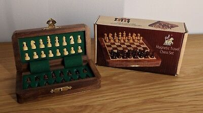 Versatile Magnetic Travel Chess Set Wooden Nice and small