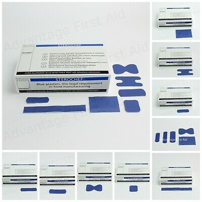 Blue Metal Detectable Catering Industry / Food Plasters. First Aid Washproof.