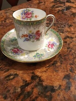 Shelley England Bone China GEORGIAN Demitasse Cup & Saucer Set Set of 2