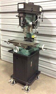 "Enco 105-1114 Mill Drill Machine & Stand 2 HP Motor 1 Phase 8.25"" x 28.75"" Table"