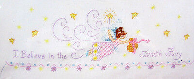 4x Stamped Linens JANLYNN Pillowcases: Tooth Fairy/Eeyore/Pooh/Threads-AX8