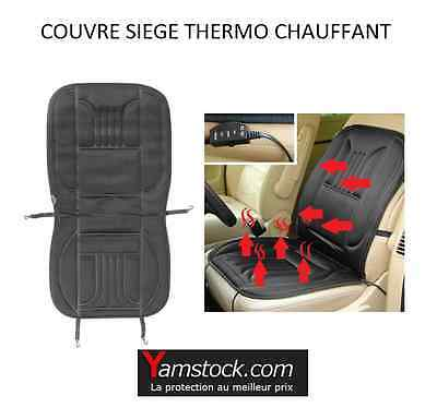 Housse couvre sieges thermo chauffant 12 V  voiture camping car