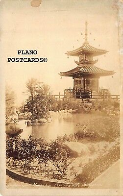 "Pacific Palisades, California ""Bernheimer Pagoda"" Rppc Real Photo Postcard"
