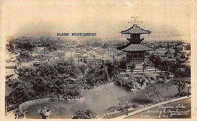 "Pacific Palisades, California ""Bernheimer Pagoda Lake"" Rppc Real Photo Postcard"