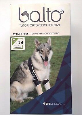 Balto BT SOFT PLUS tutore per GOMITO DOPPIO per CANE - BTFMEDICAL