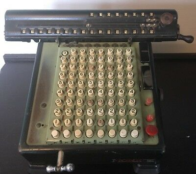 Vintage Monroe Mechanical High Speed Adding Machine Calculator 1940's -Untested