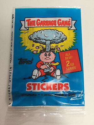 1989 Regina New Zealand The Garbage Gang 2nd Series WRAPPER (Adam Bomb) - Rare