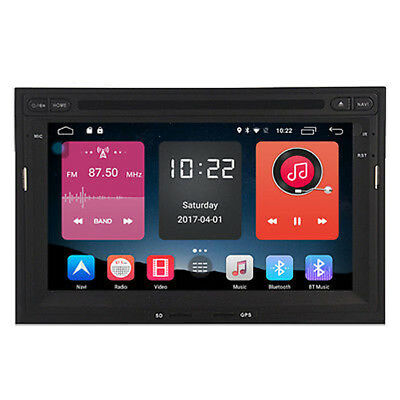 "7"" Android 6.0 Car DVD Player Radio GPS for Peugeot 3008 5008 Partner Berlingo"