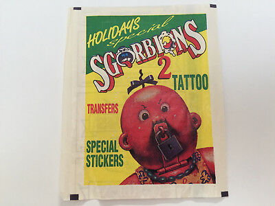 1989 Italy Garbage Pail Kids SGORBIONS 2nd Series WRAPPER Holidays Special