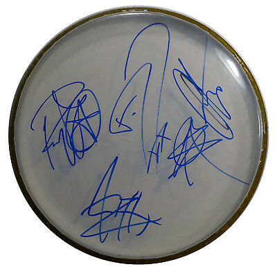 Signed Motionless In White Autographed Drumhead All 6 Nice!