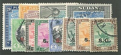 Sudan (Official Stamps) Mint & Used 11 Stamps