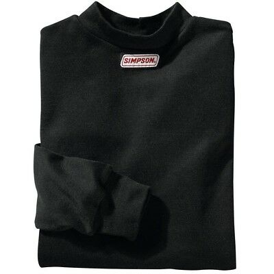 SIMPSON SAFETY Small Black Crew Neck Long Sleeve Underwear Top P/N 20600S