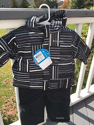 NWT Columbia Toddler snow jacket and bibs size 12-18 months