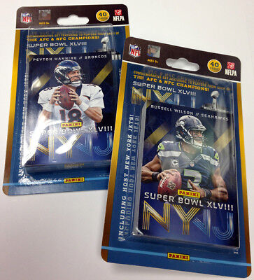 2014 Panini Super Bowl XLVIII Commemorative Football Card Set