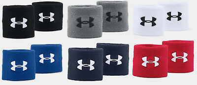 "Under Armour UA Performance 3"" Unisex Wristbands Sweatbands All Sport 2-Pack"