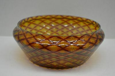 Antique 19th Century English Quilted Glass Bowl