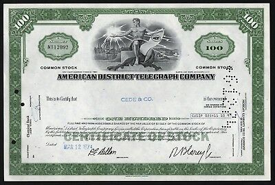 American District Telegraph Company (now ADT Security)