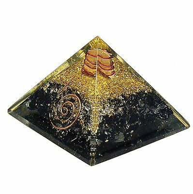 Extra Large Black Tourmaline Orgonite (70-75mm) Orgone Gemstone Pyramid X-large