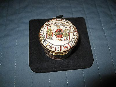 "Halcyon Days ""the Domesday Book"" 900Th Anniv. Comm. Edition Trinket Box Mint"
