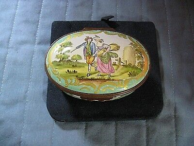 "Halcyon Days ""the Haymakers"" Collectors Circle Limited Edition Trinket Box Mint"