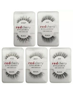 Red Cherry Lashes - 100% Human Hair False Eyelashes - High Quality Lashes