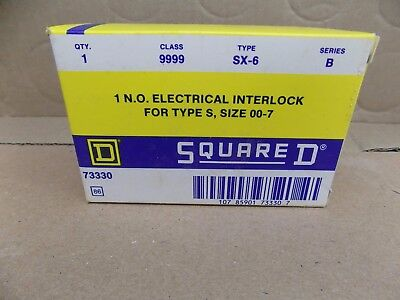 Square D 9999SX6 N.O. Electrical Interlock for 00-7 Type S Contactors/Starters