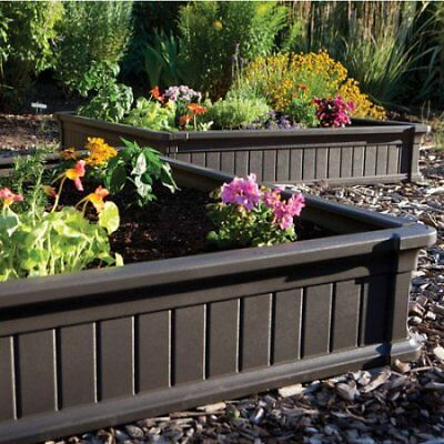 Lifetime 4' x 4' Raised Garden Bed, Brown W