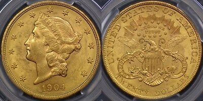 United States of America, 1904 Double Eagle or Twenty Dollar - PCGS MS61