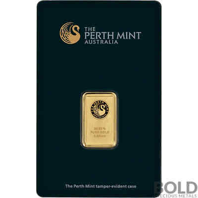 Gold Bar Perth Mint - 5 Gram