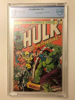 Incredible Hulk #181 CBCS 3.5 1st Appearance of Wolverine