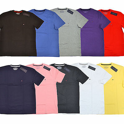 Tommy Hilfiger Mens T-Shirt Lot Of 3 Tee Shirts All Sizes And Colors Th Logo New