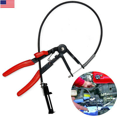 Flexible Long Locking Hose Clamp Removal Install Pliers Ratchet Tool Clip Band