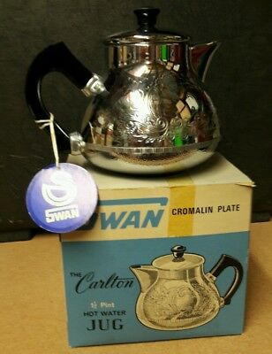 ANTIQUE VINTAGE SWAN CROMALIN WATER JUG 50's 60's  70's