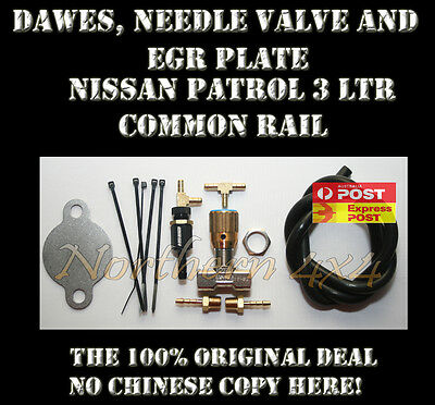 Dawes Valve, Needle valve and EGR plate Nissan GU Patrol ZD30 Common Rail