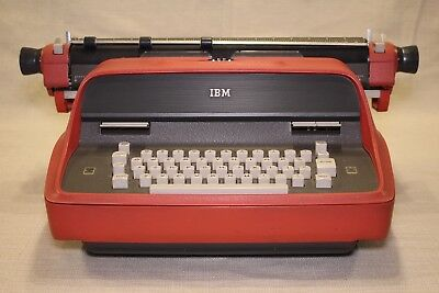 Vintage Ibm Model 11 Electric Typewriter Red, Rare, Working, Beautiful Condition