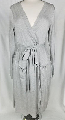 A Pea In The Pod Heathered Gray Maternity Sleep Robe, Size Small, Excellent