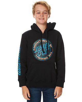 New Santa Cruz Boys Kids Boys Original Dot Pop Hood Grey
