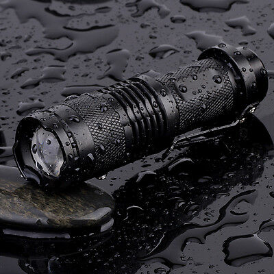 CREE Q3 LED Zoomable Focus Bright Flashlight Torch Light AA/14500