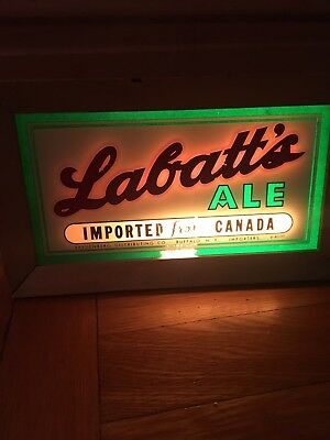 Labatts Ale - Advertising Light up sign - Working