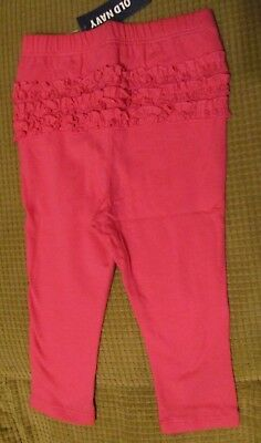 New Baby Girl Old Navy Pink Ruffle Back Leggings 12-18 months
