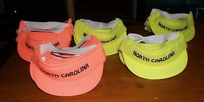 New Souvenior Lot of 27 Neon Toddler Infant Baby Visors from North Carolina Cap