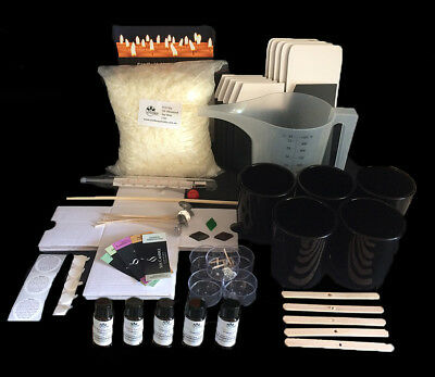 Soy Candle Making Kit with black candle jars and gift boxes (1 only)