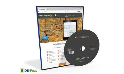 Coin Collecting Software - Coin Catalog Pro 2017 for Windows on 8GB USB drive