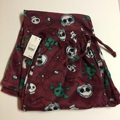 Nightmare Before Xmas Lounge Pajama Pants Soft Fleece Men's Size Small Halloween