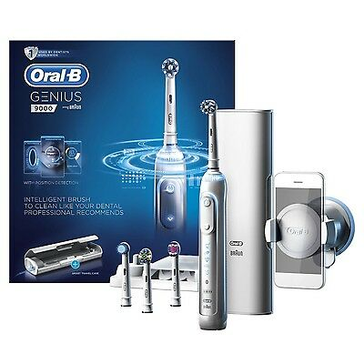 BRAUN Oral-B GENIUS 9000 WHITE BLUETOOTH Electric Rechargeable Toothbrush *NEW*