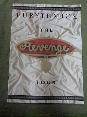 #t105.   Music Tour Program -  Eurythmics, The Revenge Tour  1987